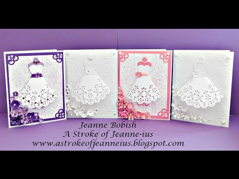 Handmade Dress Card Tutorial
