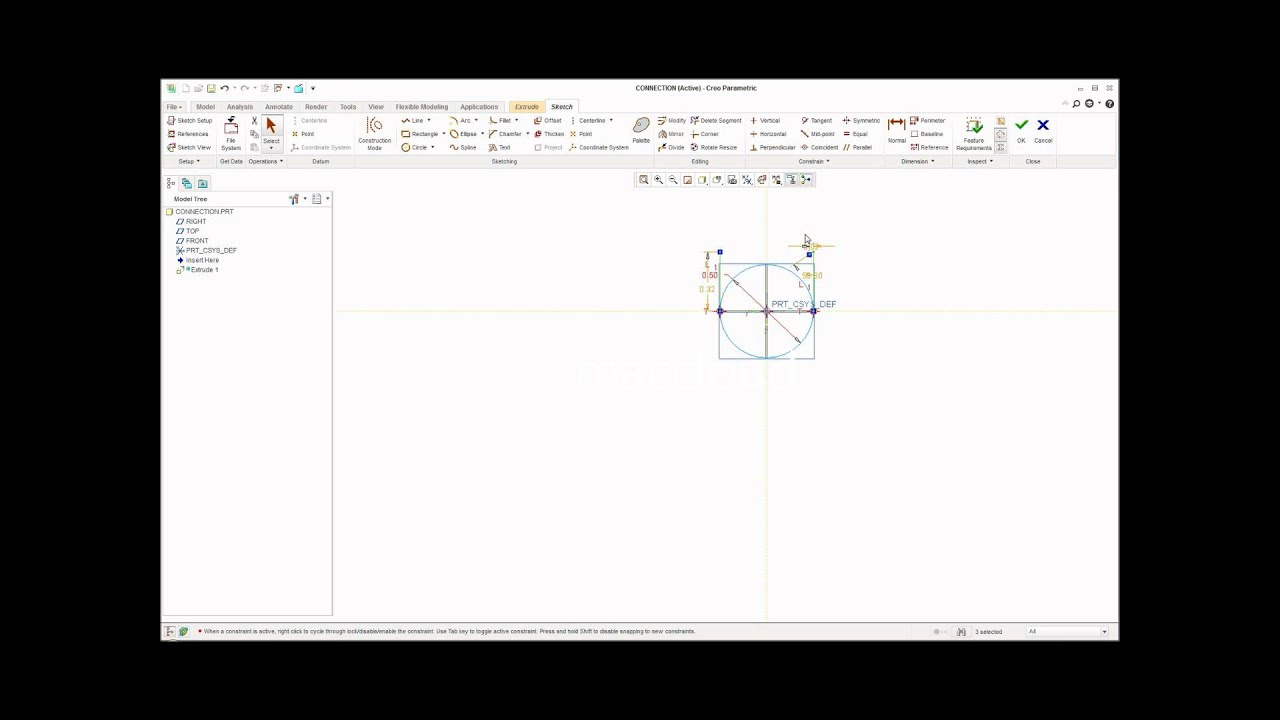connection nutcracker cad drawing assembly and mechanism ptc creo 2 0 [ 1440 x 1080 Pixel ]