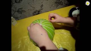 Как сделать абажур из ниток своими руками / How to make a lampshade from the thread with your hands