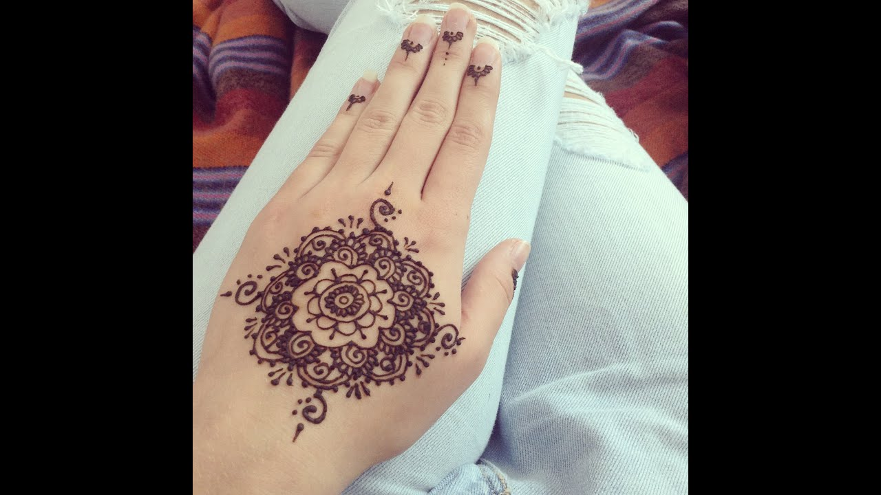 Simple henna design for beginners henn simple pour - Henne simple main ...