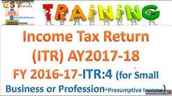 ITR 4 filing  2017-18
