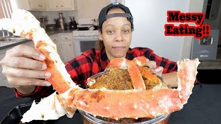 HOT SEAFOOD BOIL MUKBANG DRIPPING DOWN MY CHIN!!!