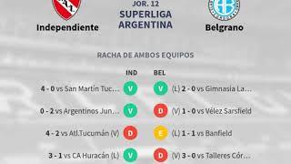 Previa Independiente vs Belgrano - Jornada 12 - Superliga Argentina 20... - Pronósticos y horarios