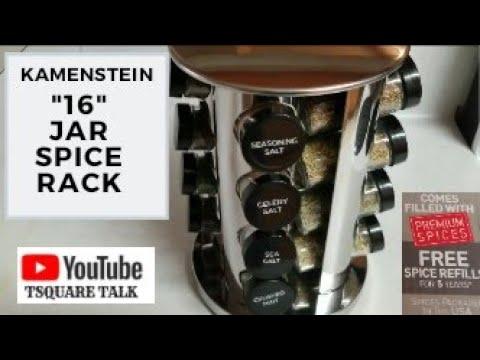 my new kamenstein 16 jar spice rack 5 years of free spice refills