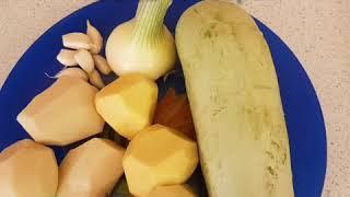 Оладьи из кабачков с картошкой, быстро и вкусно