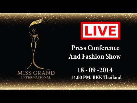Miss Grand International 2014 - Press Conference And Fashion Show