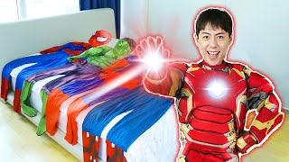 Mashu Rescue Mission with Super Hero Iron 마슈 슈퍼 히어로 아이언맨으로 변신해서 도와주기 마슈브이로그 Mashu Vlog