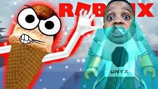 FIGHTING ICE CREAM MONSTER WITH ICE - ROBLOX