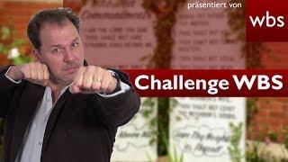 Darf ich mein Testament in Stein meißeln? | Challenge WBS - RA Solmecke