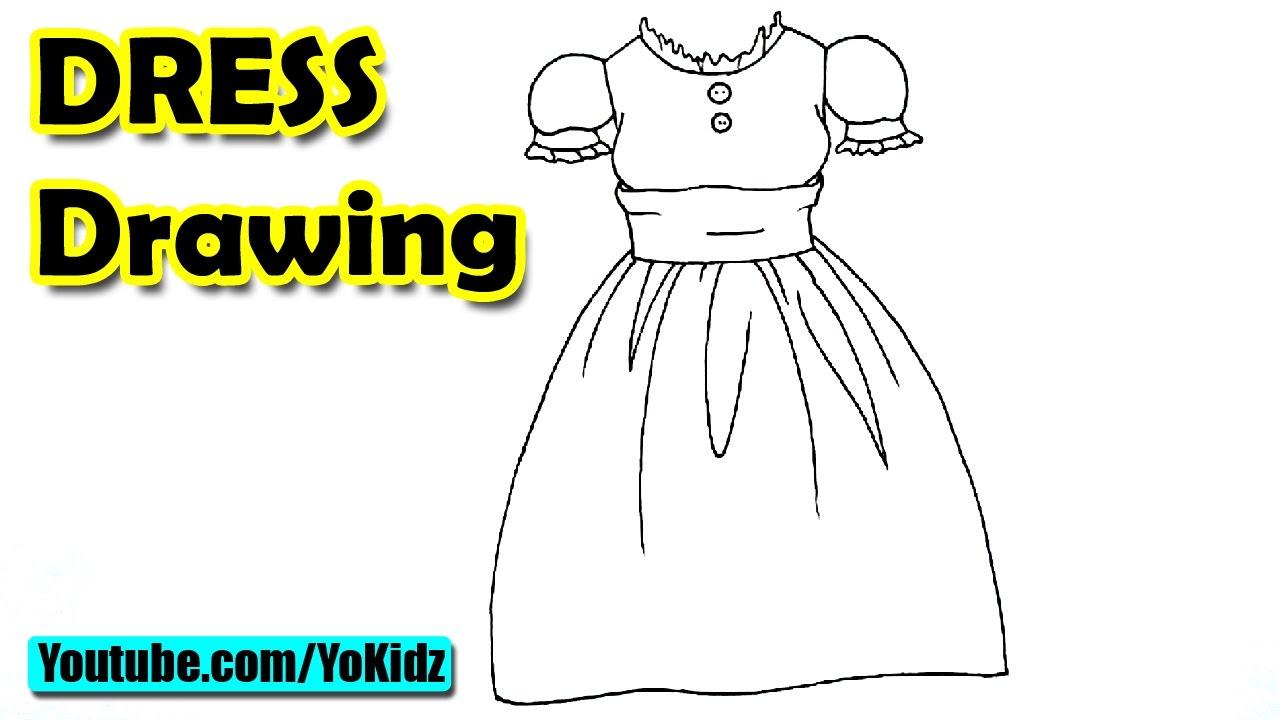 how to make a dress sketch