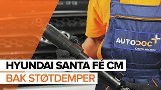 Hvordan bytte bak støtdemper på HYUNDAI SANTA FÉ CM BRUKSANVISNING | AUTODOC