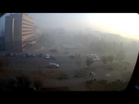 Горящий город Братск 29.09.2011 (09:50) Гостиница Тайга
