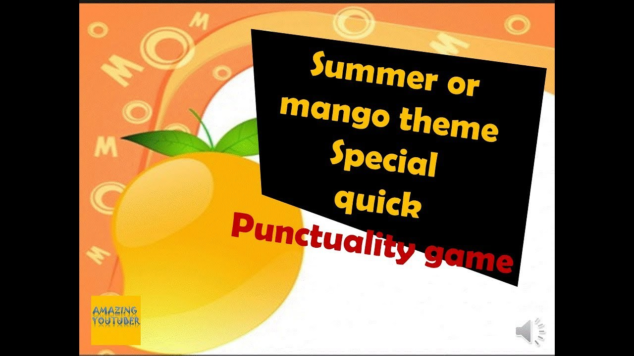 Summer Theme And Mango Theme Quick Punctuality Game For Ladies Kitty Party