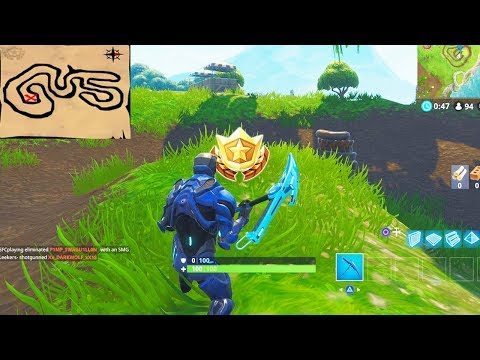 """""""Follow the treasure map found in Salty Springs"""" Location Fortnite Week 3 Challenges!"""