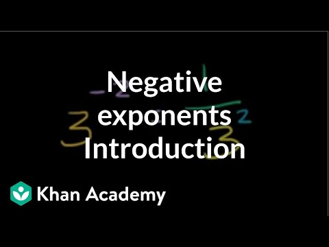 Introduction To Negative Exponents   Exponent Expressions And Equations   Algebra I   Khan Academy