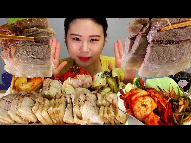 보쌈 Bossam(Korean Style Boiled Pork Belly) 먹방 MUKBANG
