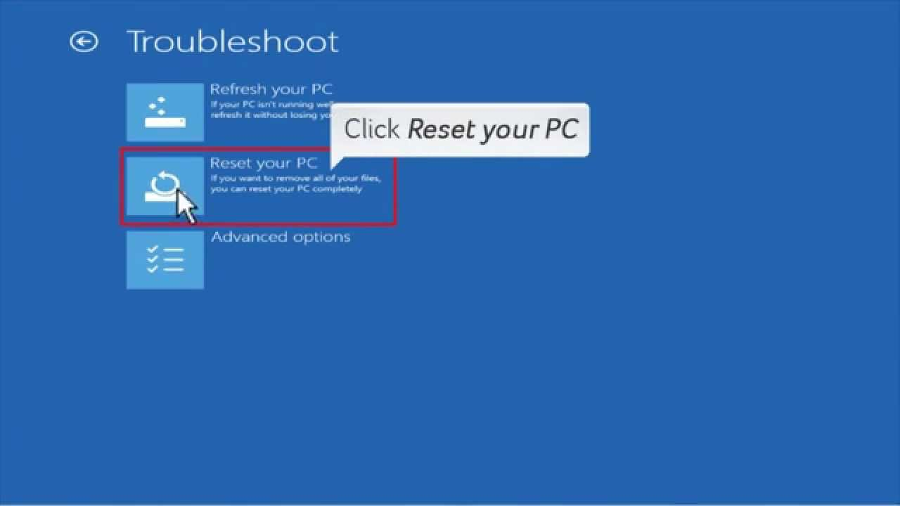 Windows 8 8 1 full recovery with alt f10 youtube for Window recovery
