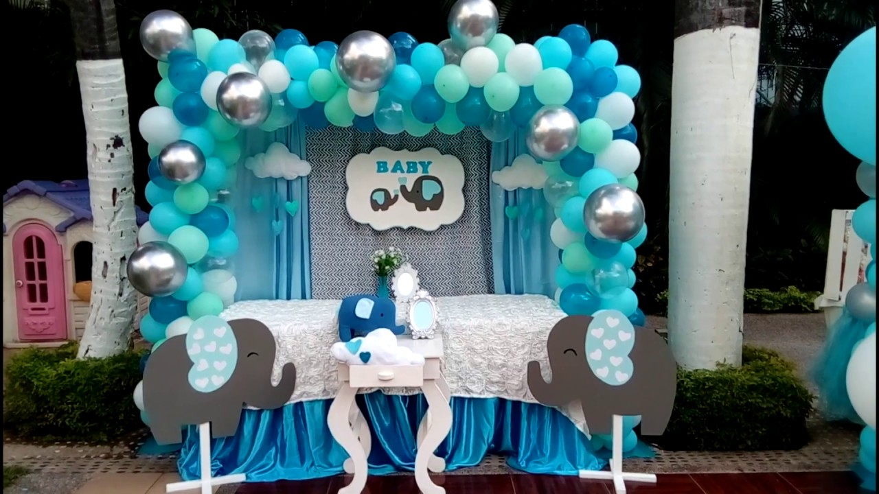 Baby Shower Nina Elefante Decoracion.Decoracion Tematica Baby Shower Elefantitos Boy