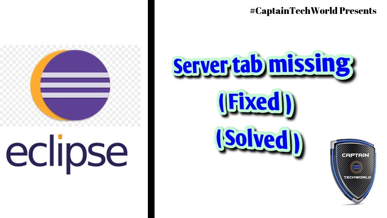 Adding the missing Server tab to Eclipse | #CaptainTechWorld | 2019