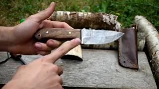 Présentation du couteau en damas de chez Perkin's