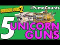 Top 5 Unicorn and Impossible Guns and Weapons in Borderlands 2 #PumaCounts
