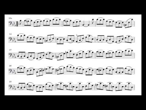J. S. Bach Cello Suite n. 4 BWV 1010 - 6. Gigue - Piano Transcription [tbpt28]