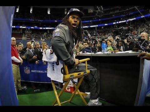 892d1fb92 Super Bowl 49 Media Day  Seattle Seahawks vs. Tom Brady - YouTube