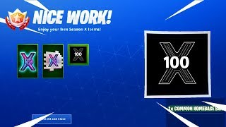 *NEW* LEVEL 100 UNLOCKED in Fortnite Season X! (LEVEL 100 REWARDS)