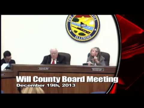 Will County Board Meeting - December 2013