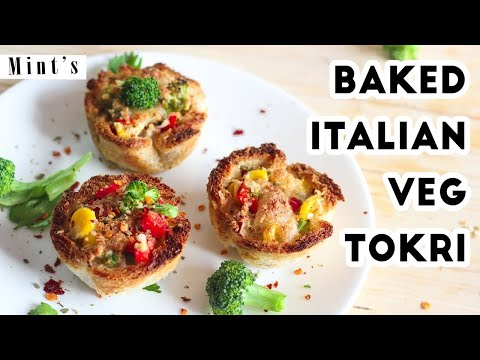 Baked Italian Veg Tokri Recipe In Hindi - Breakfast Recipes - Party Snacks Recipes - EP-177