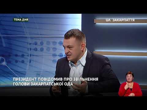 Тема дня. Президент повідомив про звільнення голови Закарпатської ОДА (24.12.19)