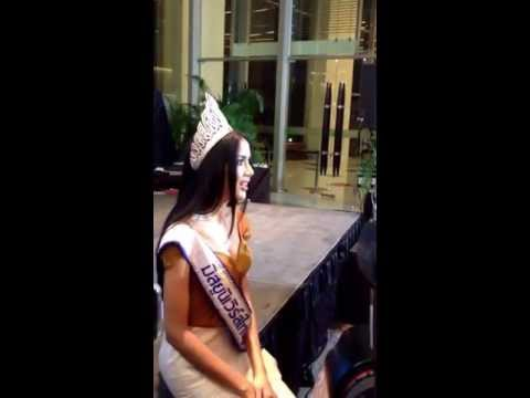 Miss Universe Thailand 2013 interviewing with Missosology.com
