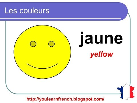 French Lesson 2 Colors In French Colours Vocabulary For