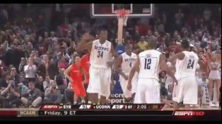 SYRACUSE OVERTIME WIN (X6) OVER UCONN (ESPN)