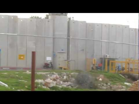 The Israeli West Bank barrier (The Wall, security fence) near Bethlehem (Palestine)