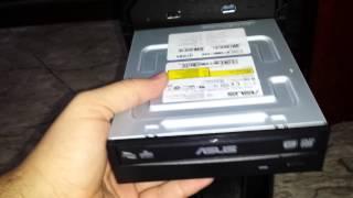 unboxing gravador e leitor de dvd asus 24x drw 24f1st blk b as atualizao do meu pc