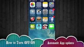 How to turn OFF/ON automatic updates iPhone iPad iPod