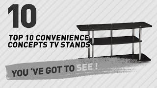 Staring: Designs2Go 3-Tier Wide TV Stand // Convenience Concepts Best Sellers