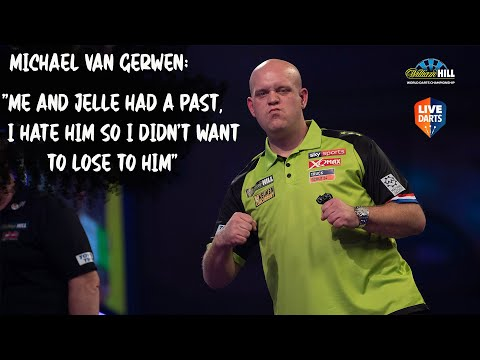 """Michael van Gerwen: """"Me and Jelle had a past, I hate him so I didn't want to lose to him"""""""