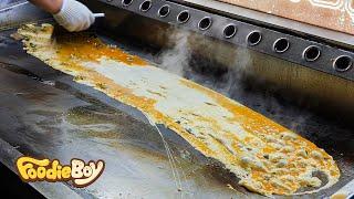 Rolled Omelet / Seoul Korea / Korean Street Food / 장꼬방 계란말이 / 서울 서초구 장꼬방묵은김치찌개