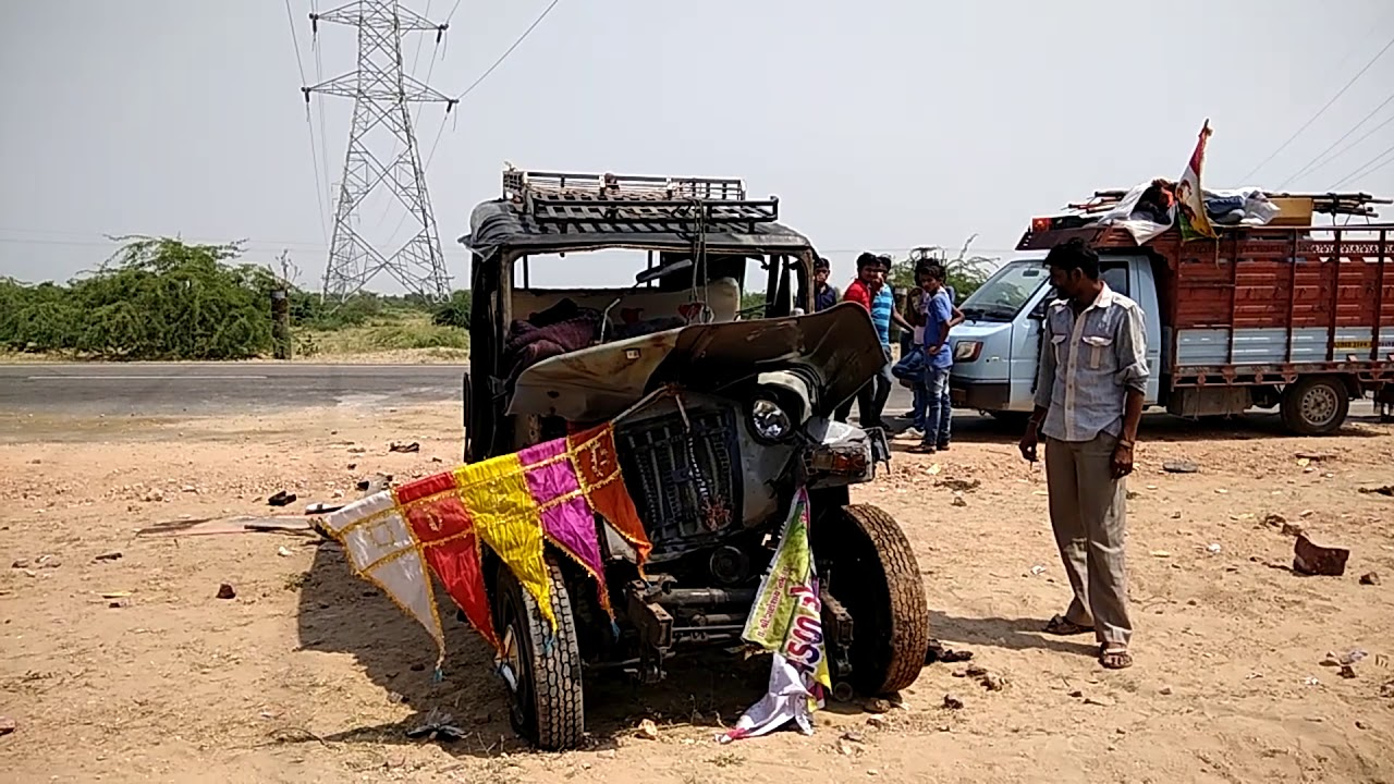 jodhpur : road accident in dechu - youtube