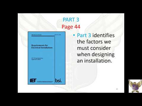 Intro to part 3 of the 18th Edition IET Wiring Regulations from YouTube · Duration:  4 minutes 36 seconds