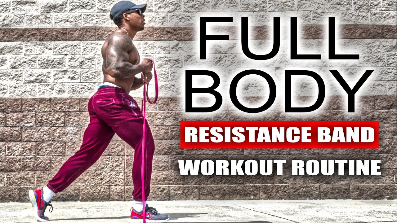 10 Minute Full Body Workout Resistance Band Youtube