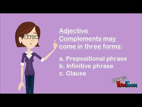 adjective complement - YouTube