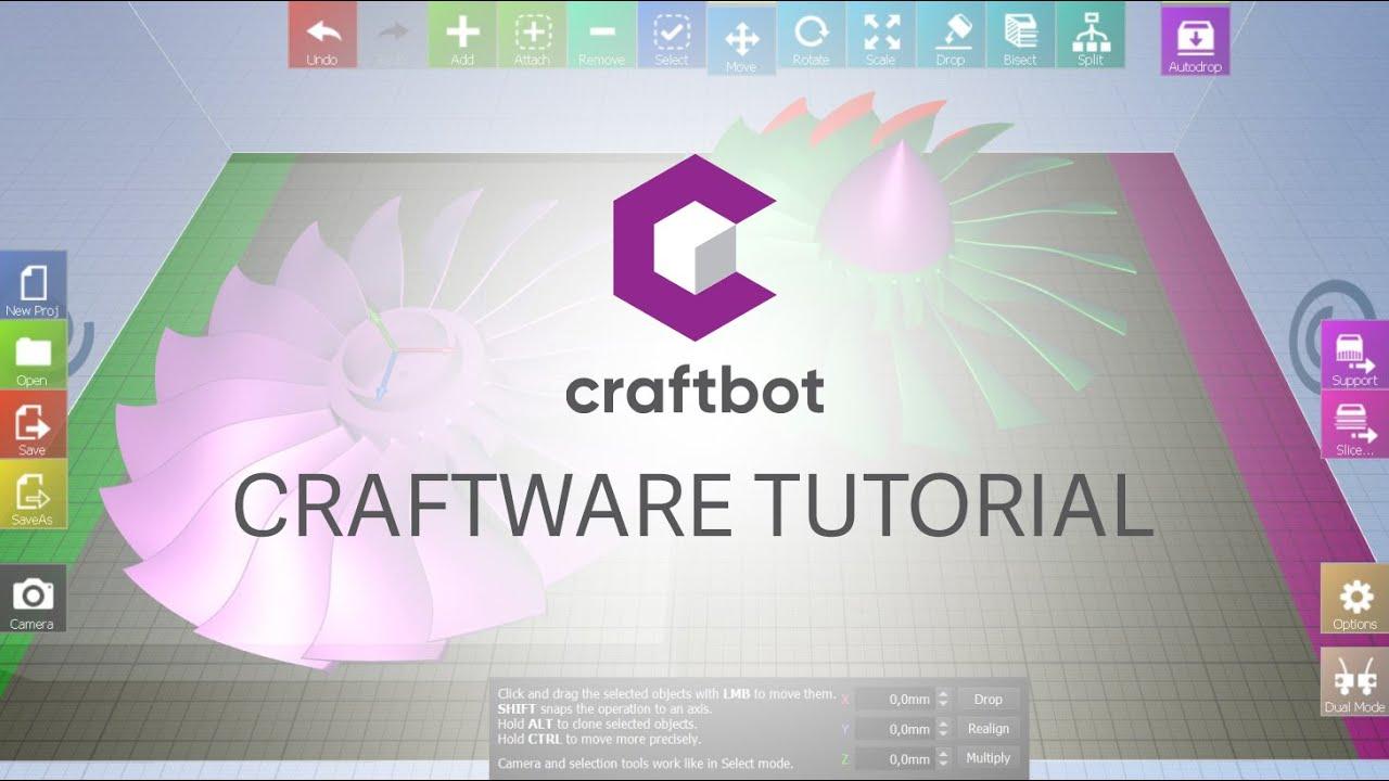 Craftunique | CraftWare – the 3D Printer slicer software