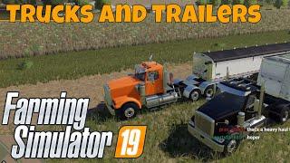 Farming Simulator 19 Sneak Peek   Q&A Focus All the Trucks and Trailers