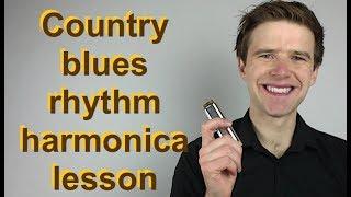 Country blues harmonica rhythm exercise lesson (Hotsy Totsy! Sonny Terry style) G blues harp lesson