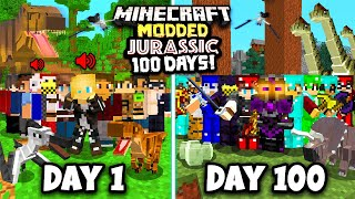 I Spent 100 Days in a Minecraft  MODDED YOUTUBER SMP!!! This is what happened...