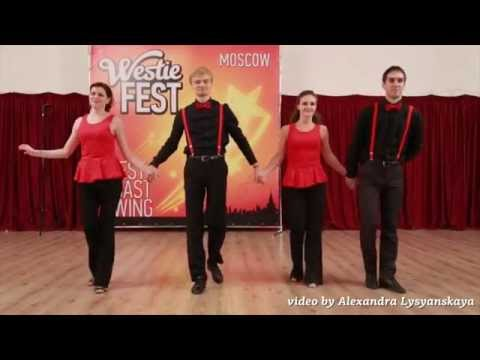 Moscow West Coast Swing 2015. Russian  Shag Team