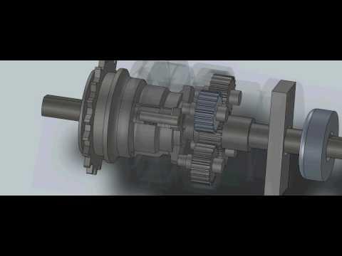 2 speed Fixed gear hub Solidworks